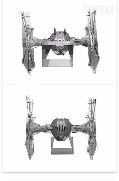 Tie Fighter DIY 3D Metal Model Kit-TEEPEAT