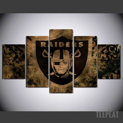 Raiders Revival Painting - 5 Piece Canvas-Canvas-TEEPEAT