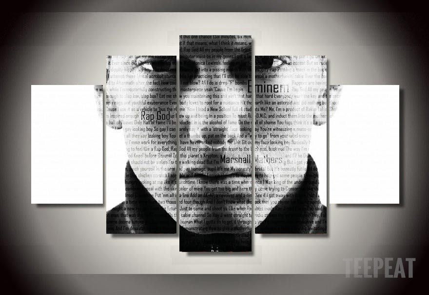 "Limited Edition ""Rap God"" - 5 Piece Canvas Painting-Canvas-TEEPEAT"