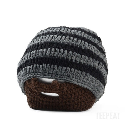 Trimmed Beard Beanie-TEEPEAT