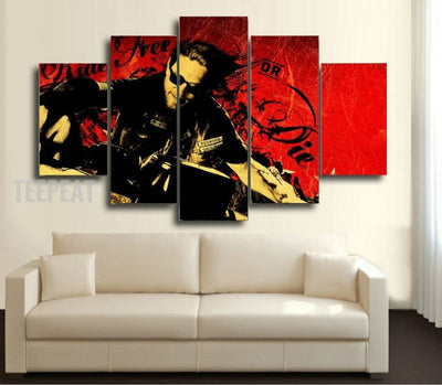 "Son of Anarchy - ""Live Free Or Die"" - 5 Piece Canvas Painting-Canvas-TEEPEAT"