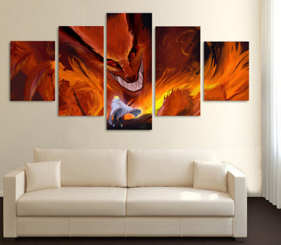 "Naruto: ""The Devil Within"" - 5 Piece Canvas Painting-Canvas-TEEPEAT"