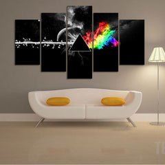 Pink Floyd: The Dark Side of the Moon - 5 Piece Canvas Painting