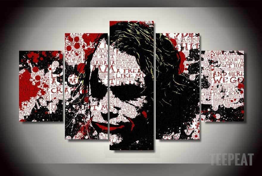 "The Joker ""In His Head"" - 5 Piece Canvas Painting-Canvas-TEEPEAT"