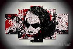 "The Joker ""In His Head"" - 5 Piece Canvas Painting"