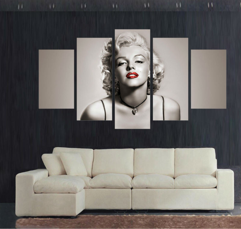 Marilyn Monroe - 5 Piece Canvas Painting - Empire Prints