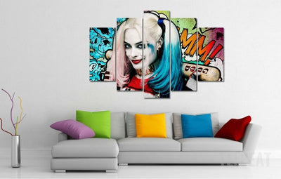 "Harley Quinn ""Pleased to meetcha!"" - 5 Piece Canvas Painting-Canvas-TEEPEAT"