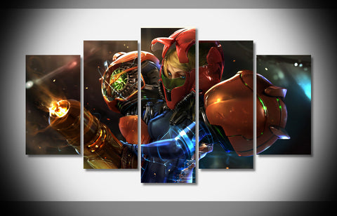 Return of Samus Painting - 5 Piece Canvas-Canvas-TEEPEAT