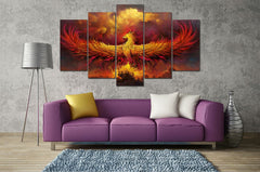 Rise From the Ashes - 5 Piece Canvas Painting