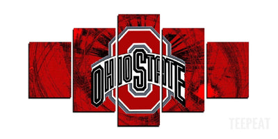 The Ohio State - 5 Piece Canvas Painting-Canvas-TEEPEAT