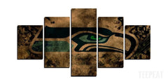 Seattle Seahawks Painting - 5 Piece Canvas Painting