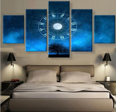 Zodiac Sign Painting - 5 Piece Canvas-Canvas-TEEPEAT