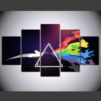"Pink Floyd: ""Run, Rabbit Run"" - 5 Piece Canvas Painting-Canvas-TEEPEAT"