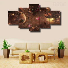 Star Wars Battle 5 Pc Canvas Painting
