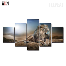 The King Of The Jungle V3 Painting - 5 Piece Canvas-Canvas-TEEPEAT