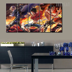One Piece Painting - 5 Piece Canvas