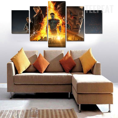 Terminator 5 Painting - 5 Piece Canvas-Canvas-TEEPEAT