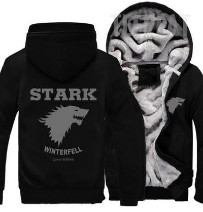 Game Of Thrones: House Stark Fleece Hoodie-TEEPEAT