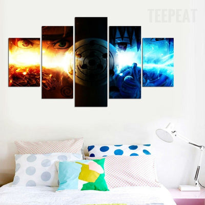 Naruto Shippuden Painting - 5 Piece Canvas-Canvas-TEEPEAT