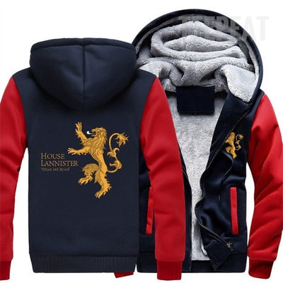 Game Of Thrones: House Lannister Fleece Hoodie-TEEPEAT