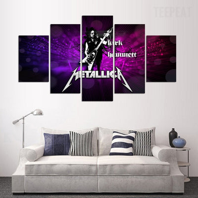 Metallica Painting - 5 Piece Canvas-Canvas-TEEPEAT
