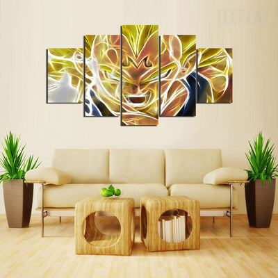 Majin Vegeta - 5 Piece Canvas Painting-Canvas-TEEPEAT