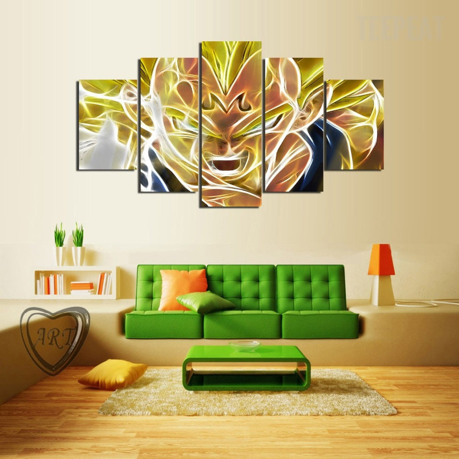 Majin Vegeta - 5 Piece Canvas Painting