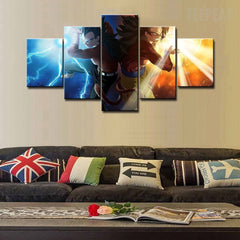 Goku & Vegeta - 5 Piece Canvas Painting