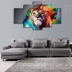 The King Of The Jungle Painting - 5 Piece Canvas