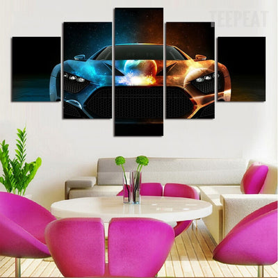 Luxury Car Painting - 5 Piece Canvas-Canvas-TEEPEAT