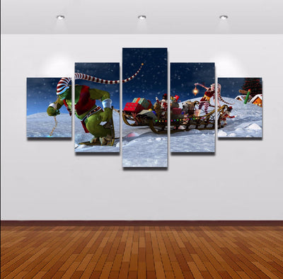 Winter Wonderland Painting - 5 Piece Canvas-Canvas-TEEPEAT