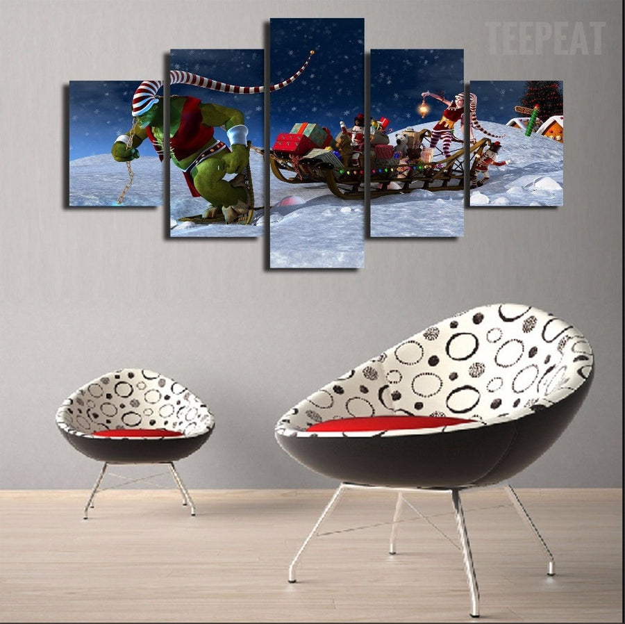 Winter Wonderland Painting - 5 Piece Canvas