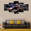 Flagged Theme Gun - 5 Piece Canvas Painting-Canvas-TEEPEAT