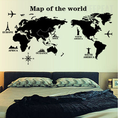 Map Of The World Wall Stickers