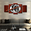 Goku King Kai Training Symbol - 5 Piece Canvas Painting-Canvas-TEEPEAT