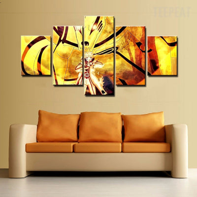 Naruto Sage Mode Painting - 5 Piece Canvas-Canvas-TEEPEAT