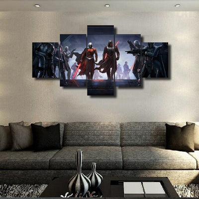 Star Wars: Darth Malak and Darth Malgus Painting - 5 Piece Canvas-Canvas-TEEPEAT