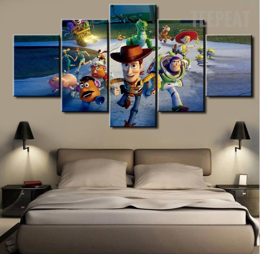 The Toy Story Painting - 5 Piece Canvas-Canvas-TEEPEAT