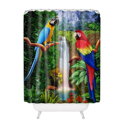 Parrots Design Shower Curtain-TEEPEAT