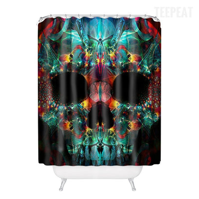 Skull Art Shower Curtain-TEEPEAT
