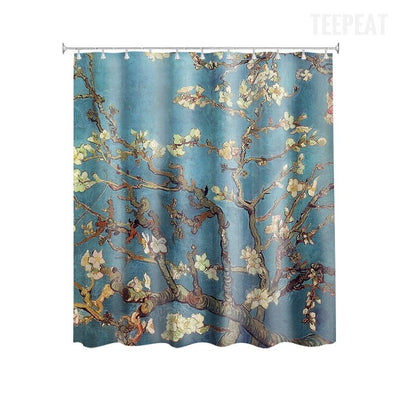 Van Gogh's Almond Branches Shower Curtain-TEEPEAT