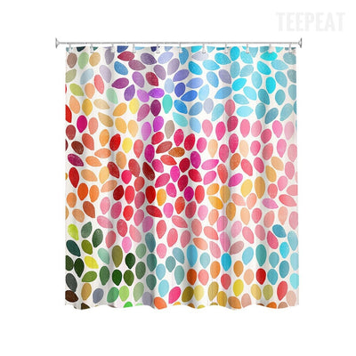 Garima Dhawan Dots Shower Curtain-TEEPEAT