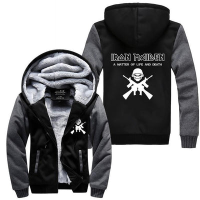 Iron Maiden Fleece Hoodie-Jacket-TEEPEAT