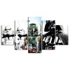 Star Wars: Darth Vader and Stormtroopers Painting - 5 Piece Canvas-Canvas-TEEPEAT