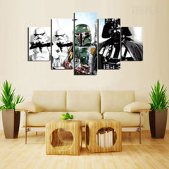 Star Wars: Darth Vader and Stormtroopers Painting - 5 Piece Canvas