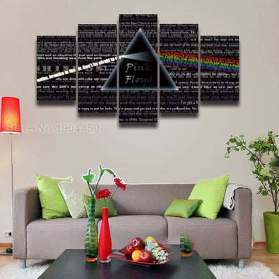 Pink Floyd V6 Painting - 5 Piece Canvas-Canvas-TEEPEAT