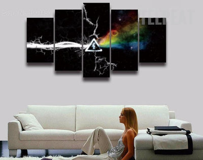 Pink Floyd V5 Painting - 5 Piece Canvas-Canvas-TEEPEAT