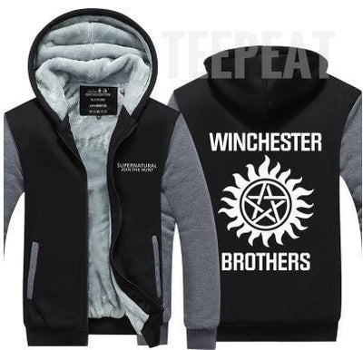 Winchester Brothers Fleece Hoodie-TEEPEAT
