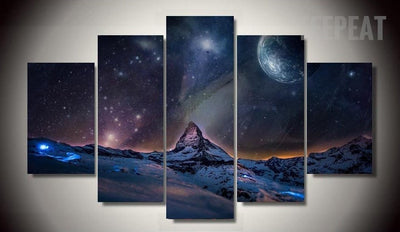 Stunning Universe Painting - 5 Piece Canvas-Canvas-TEEPEAT