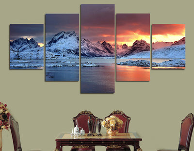 Jokulsarlon in Iceland Painting - 5 Piece Canvas-Canvas-TEEPEAT